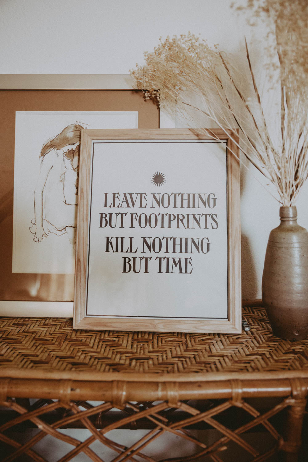 Letterpress: Leave Nothing But Footprints Kill Nothing But Time
