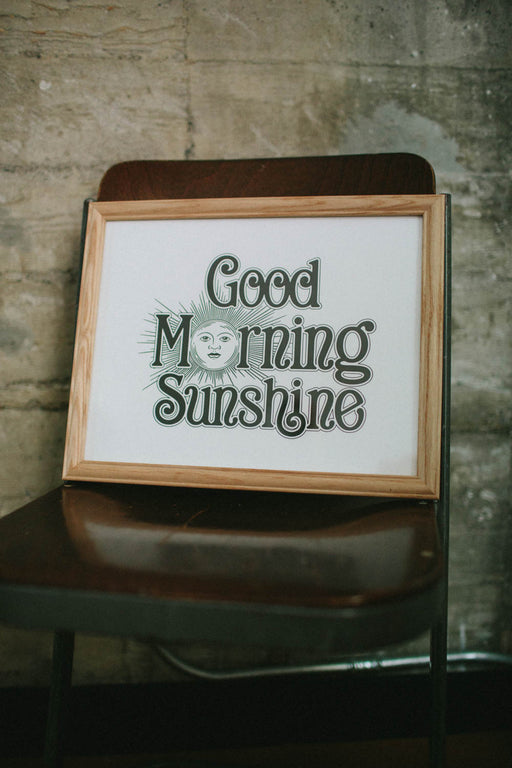 Letterpress: Good Morning Sunshine