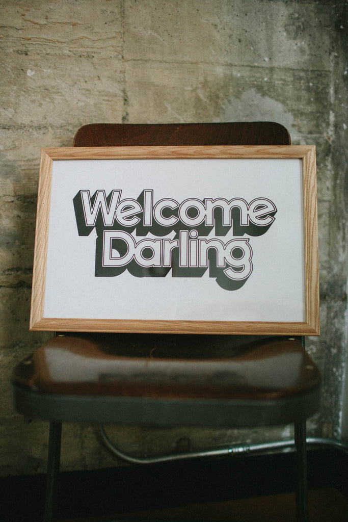 Letterpress: Welcome Darling