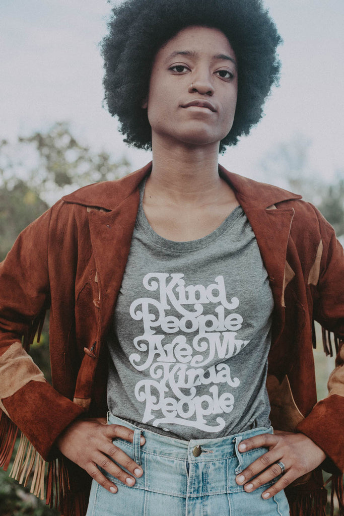 Kind People are my Kind of People | Scoop Neck