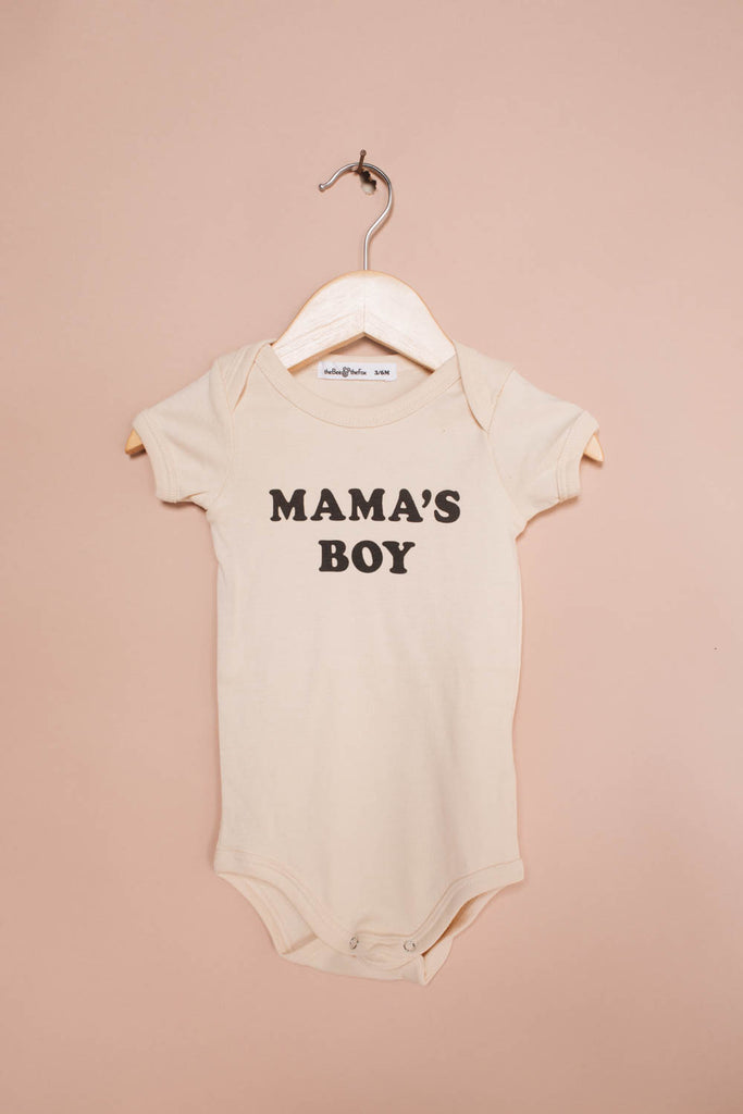 Mama's Boy | Natural Onesie