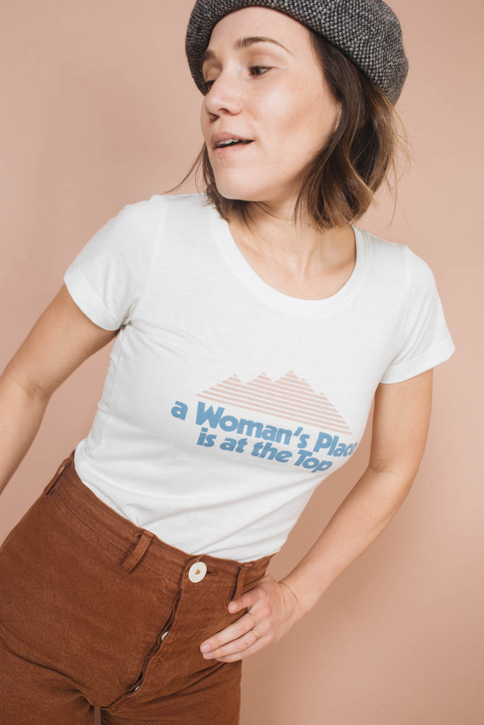 A Woman's Place is at the Top | Scoop Neck