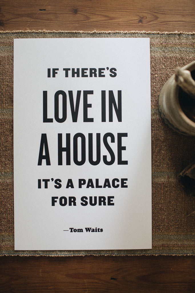 Letterpress: If There's Love in a House