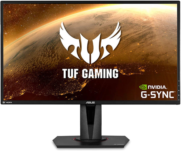 Asus TUF Gaming VG27AQ HDR Gaming Monitor – 27 inch WQHD (2560x1440), IPS, 165Hz (above 144Hz), Extreme Low Motion Blur Sync G-SYNC Compatible, Adaptive-Sync, 1ms (MPRT), HDR10 (Certified Refurbished)