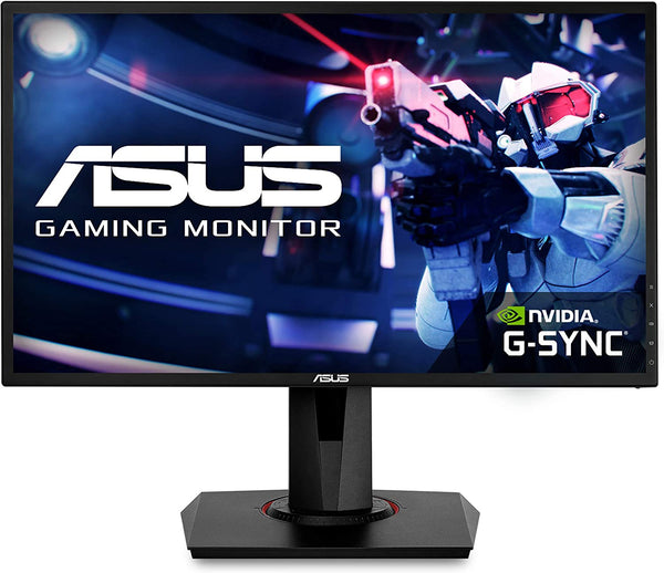 "ASUS VG248QG Gaming Monitor - 24"", Full HD, 0.5ms*, 165Hz(overclockable),G-SYNC Compatible, Adaptive-Sync (Certified Refurbished)"