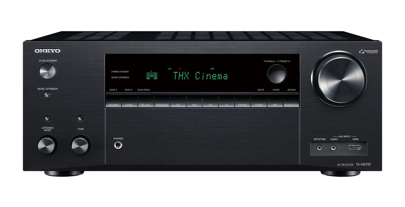 Onkyo TX-NR797 AV Receiver Front THX, Atmos, 9.2 Channel