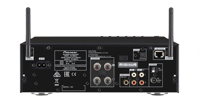Pioneer XC-HM82-K Connections