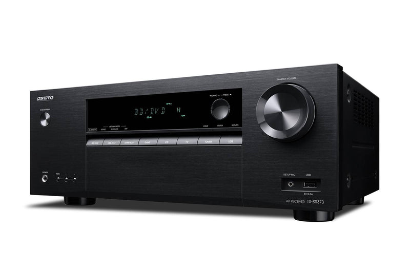 Onkyo TX-SR373 Front Angled