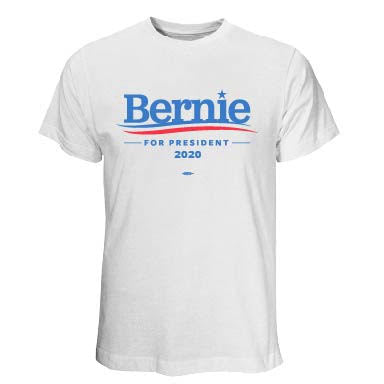 Bernie Sanders for President 2020 White T-Shirt