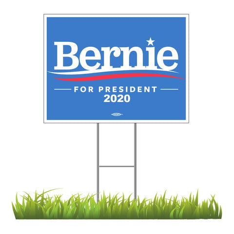 "Bernie Sanders For President 2020 Yard Sign 24"" x 18"""