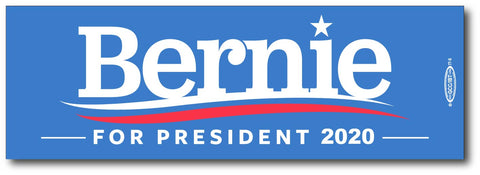 Bernie Sanders for President 2020 Blue Bumper Sticker