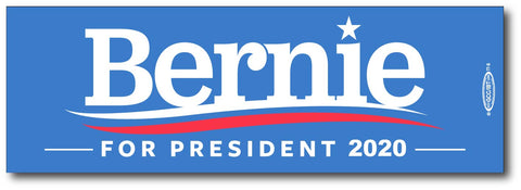 Bernie Sanders For President 2020 Blue Magnetic Bumper Sticker