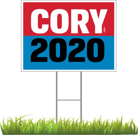 "Cory Booker For President 2020 Yard Sign 24"" x 18"""