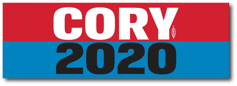 Cory Booker For President 2020 Blue Magnetic Bumper Sticker
