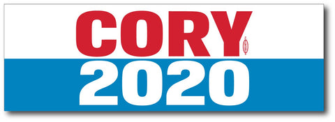 Cory Booker For President 2020 White Magnetic Bumper Sticker