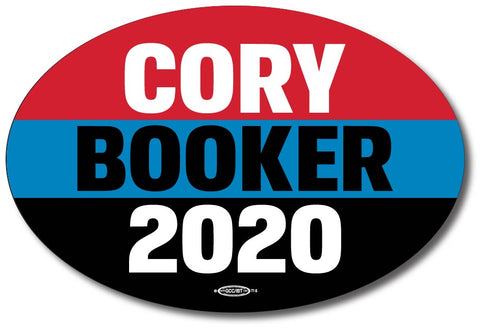 Cory Booker for President 2020 Blue Oval Bumper Sticker