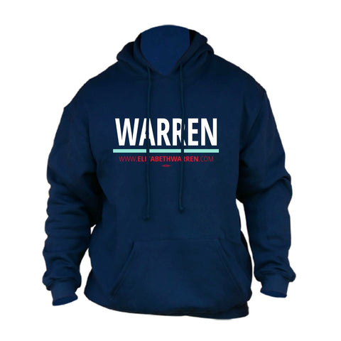 Elizabeth Warren for President 2020 Navy Hoodie
