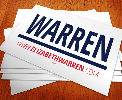 Elizabeth Warren For President 2020 Rally Sign