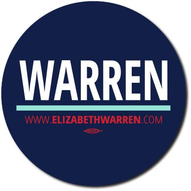 Elizabeth Warren for President 2020 Blue Campaign Button