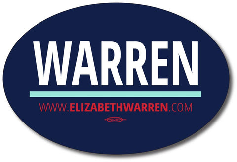 Elizabeth Warren for President 2020 Blue Oval Bumper Sticker