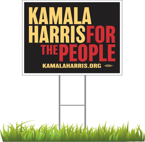 "Kamala Harris For President 2020 Black Yard Sign 24"" x 18"""