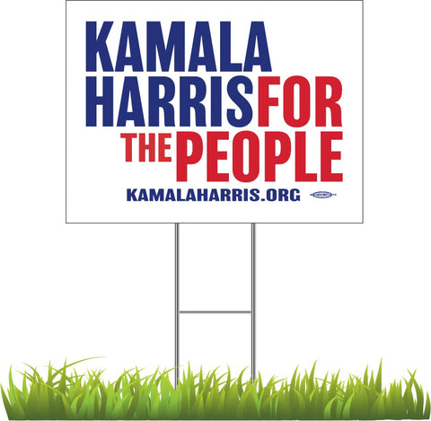 "Kamala Harris For President 2020 White Yard Sign 24"" x 18"""