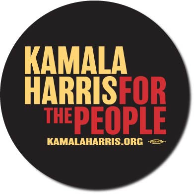 Kamala Harris for President 2020 Black Campaign Button