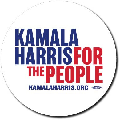 Kamala Harris for President 2020 White Campaign Button