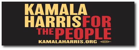 Kamala Harris for President 2020 Black Bumper Sticker