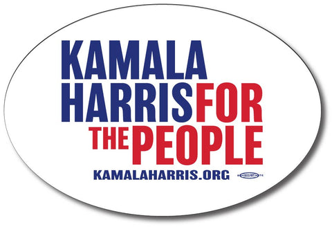 Kamala Harris for President 2020 White Oval Bumper Sticker
