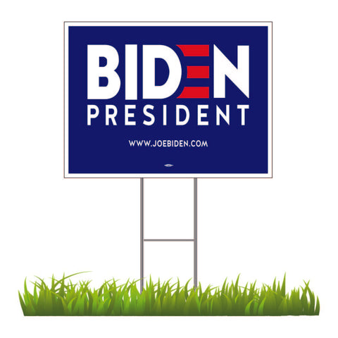 "TWO for $20! Joe Biden For President 2020 Blue Yard Sign 24"" x 18"""