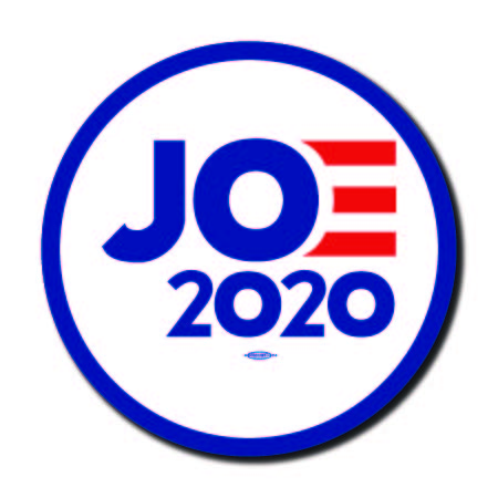 Joe Biden for President 2020 White Campaign Button