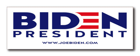 Joe Biden for President 2020 White Bumper Sticker
