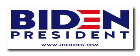 Joe Biden For President 2020 White Magnetic Bumper Sticker