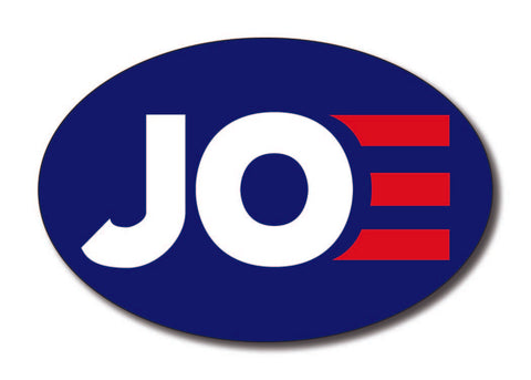 Joe Biden for President 2020 Blue Oval Bumper Sticker