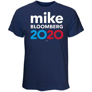 Michael Bloomberg for President 2020 Blue T-Shirt