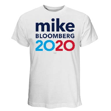 Michael Bloomberg for President 2020 White T-Shirt