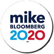 Michael Bloomberg for President 2020 White Campaign Button 5-Pack