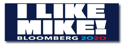 Michael Bloomberg For President 2020 Blue Magnetic Bumper Sticker