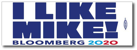 Michael Bloomberg for President 2020 White Bumper Sticker