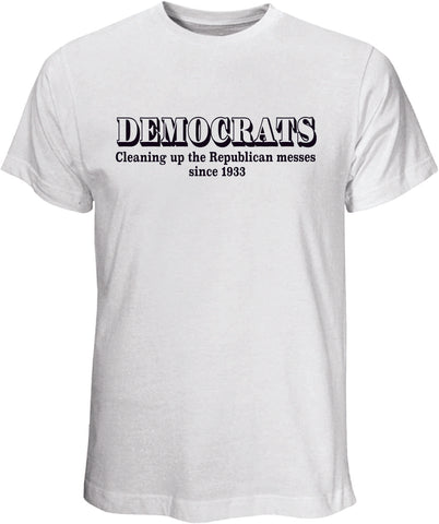 Democrats Cleaning WhiteT Shirt