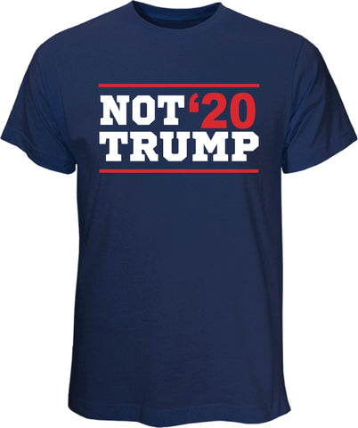 Not Trump 20 Navy T Shirt