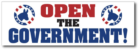 Open The Government! Magnetic Bumper Sticker