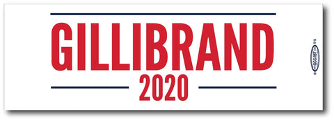 Kristen Gillibrand For President 2020 White Magnetic Bumper Sticker