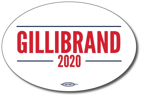 Kristen Gillibrand for President 2020 White Oval Bumper Sticker