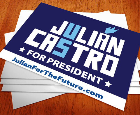Julián Castro For President 2020 Rally Sign
