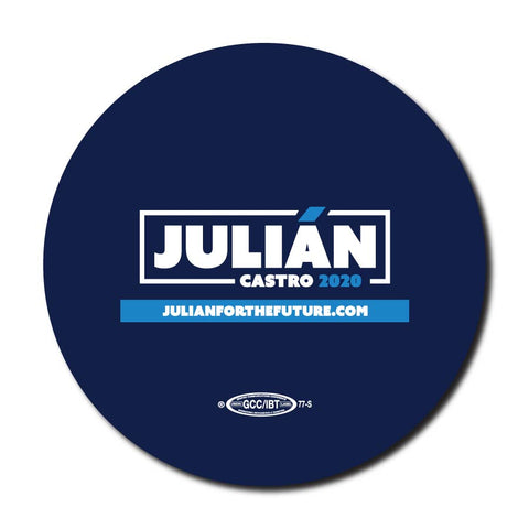 Julián Castro for President 2020 Navy Campaign Button