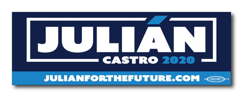 Julián Castro For President 2020 Navy Magnetic Bumper Sticker