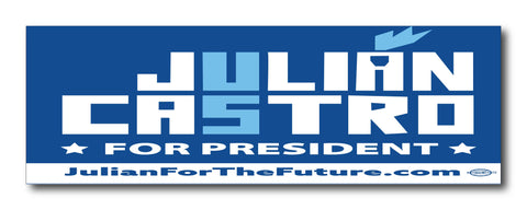 Julián Castro For President 2020 Blue Magnetic Bumper Sticker