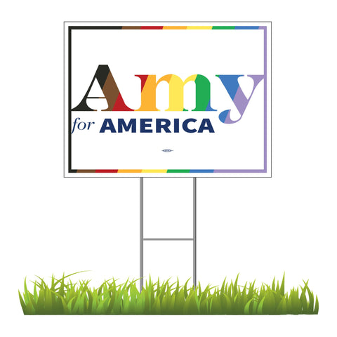 "Amy Klobuchar for America 2020 Pride Yard Sign 24"" x 18"""